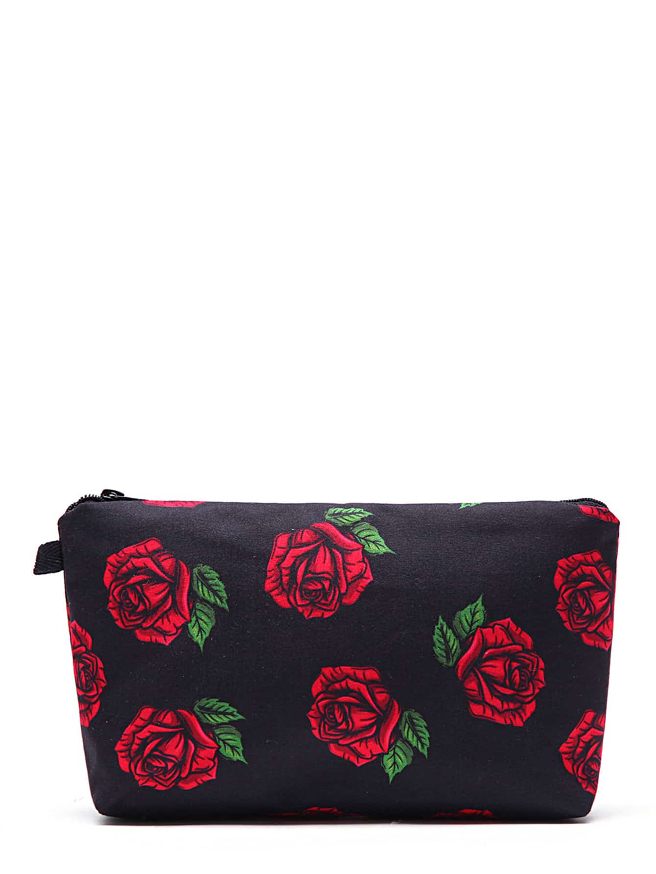Фото Rose Flower Print Makeup Bag. Купить с доставкой
