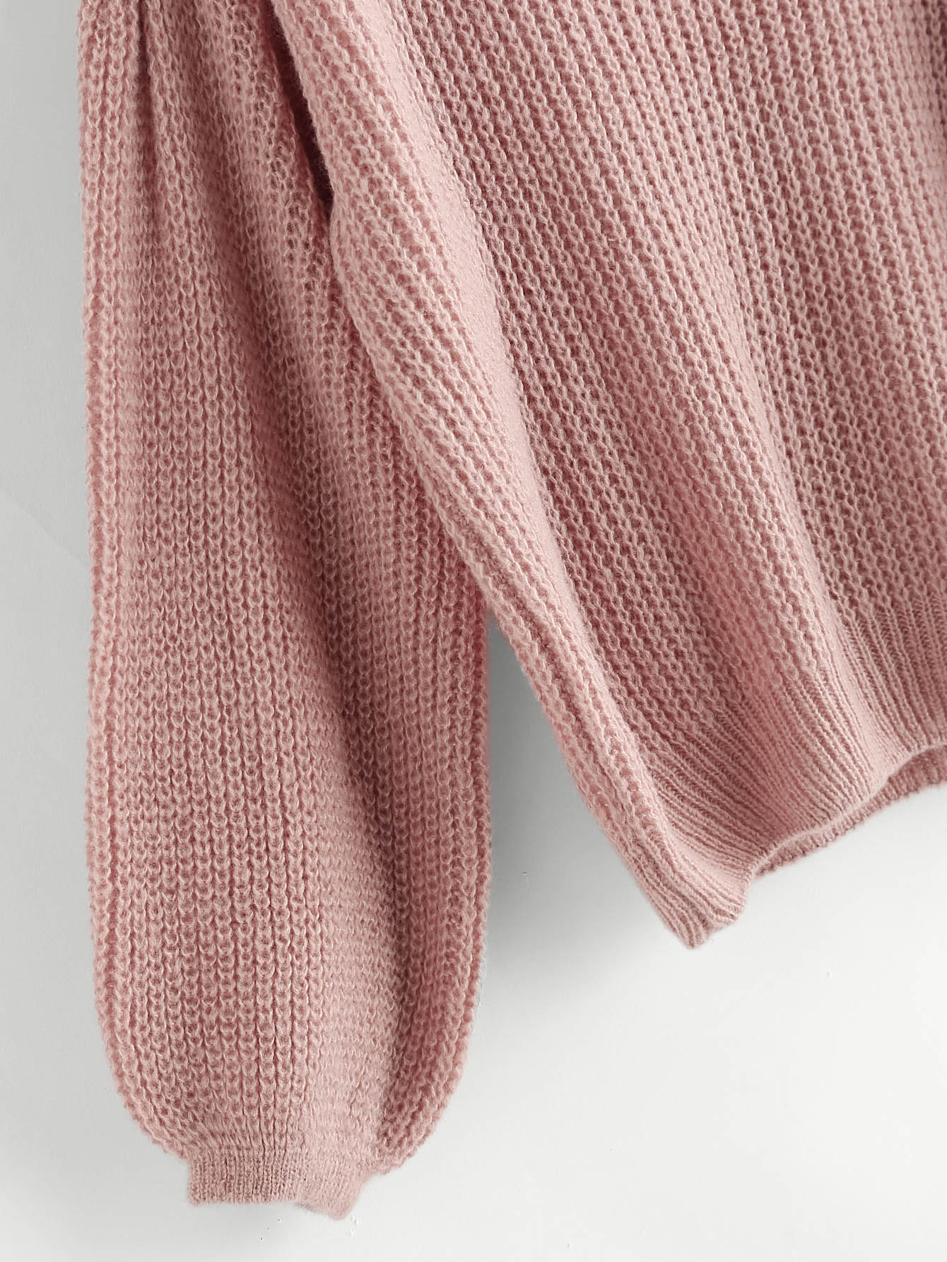 Drop Shoulder Lantern Sleeve Jumper