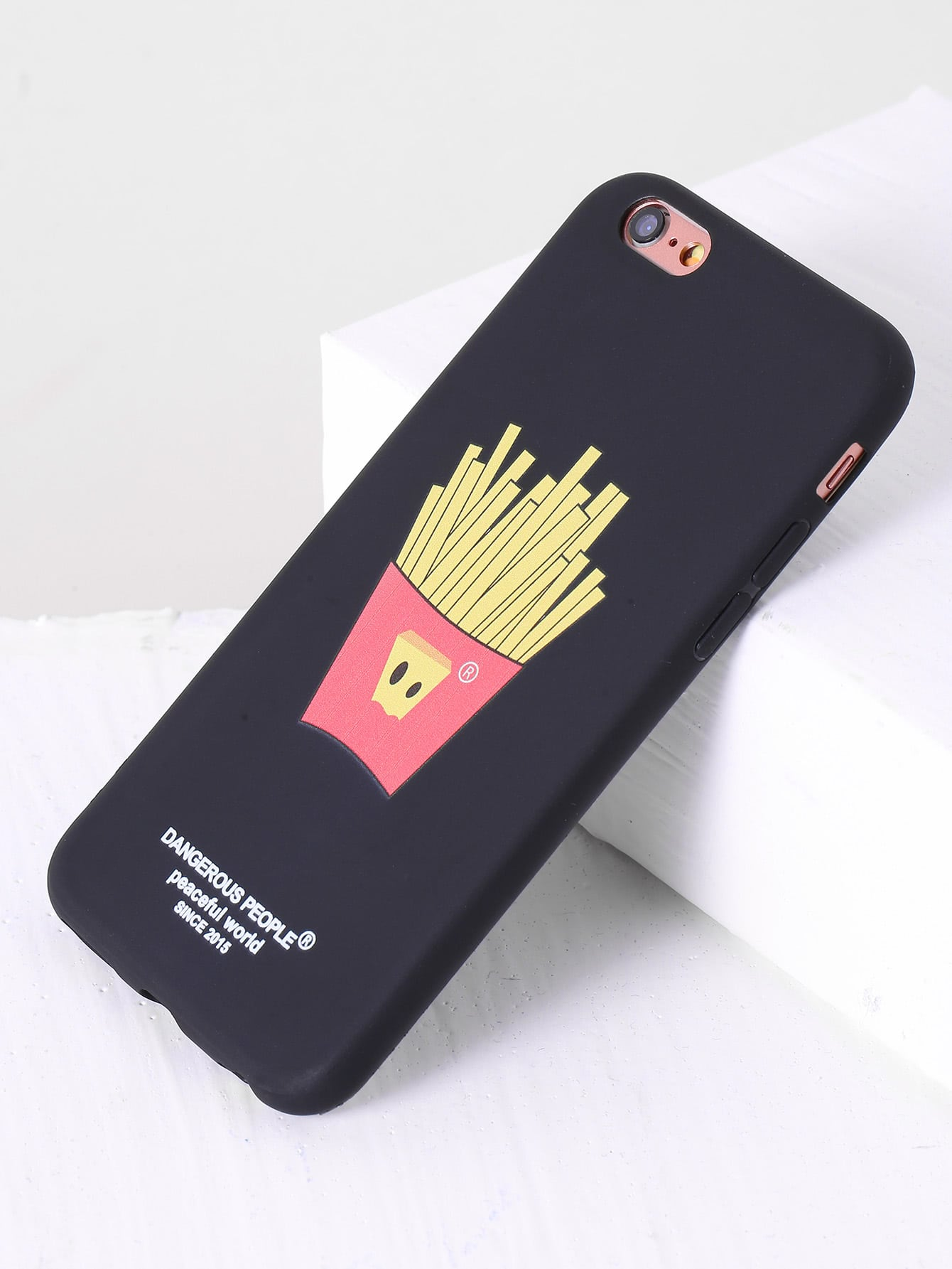Фото Black French Fries Design iPhone Case. Купить с доставкой