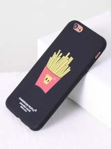 Coque imprimé des frites d\'iphone