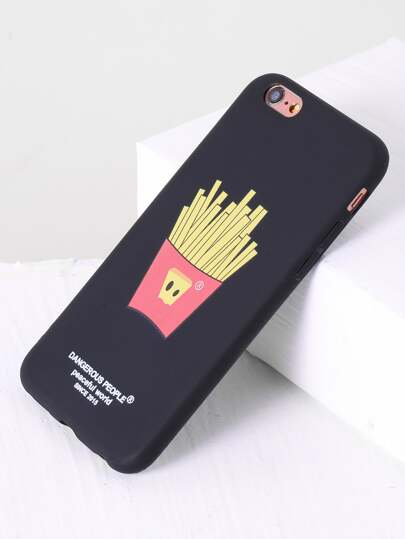 Black French Fries Design iPhone Case