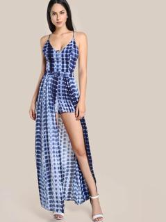 Tie Dye Romper Dress NAVY