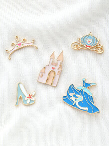 Crown & Shoes Design Brooch Set