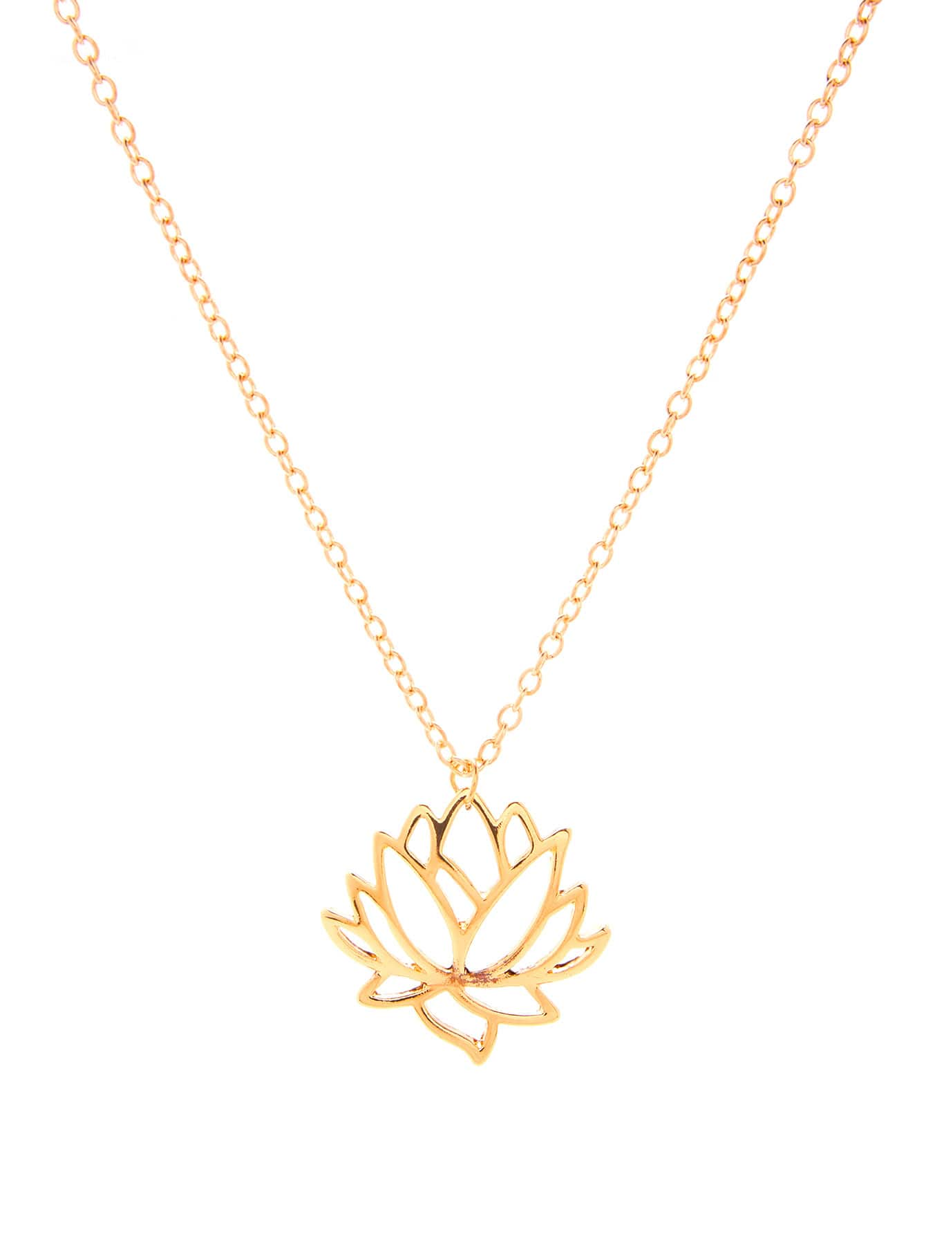 lotus petite chain gold boh long runga products pendant