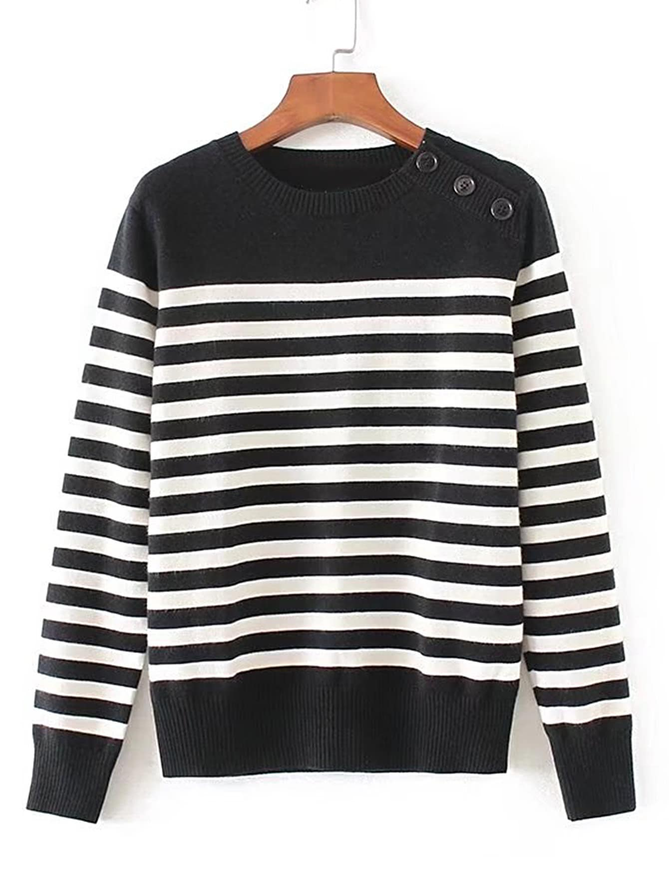 Contrast Striped Ribbed Trim Knitwear RKNI170727201