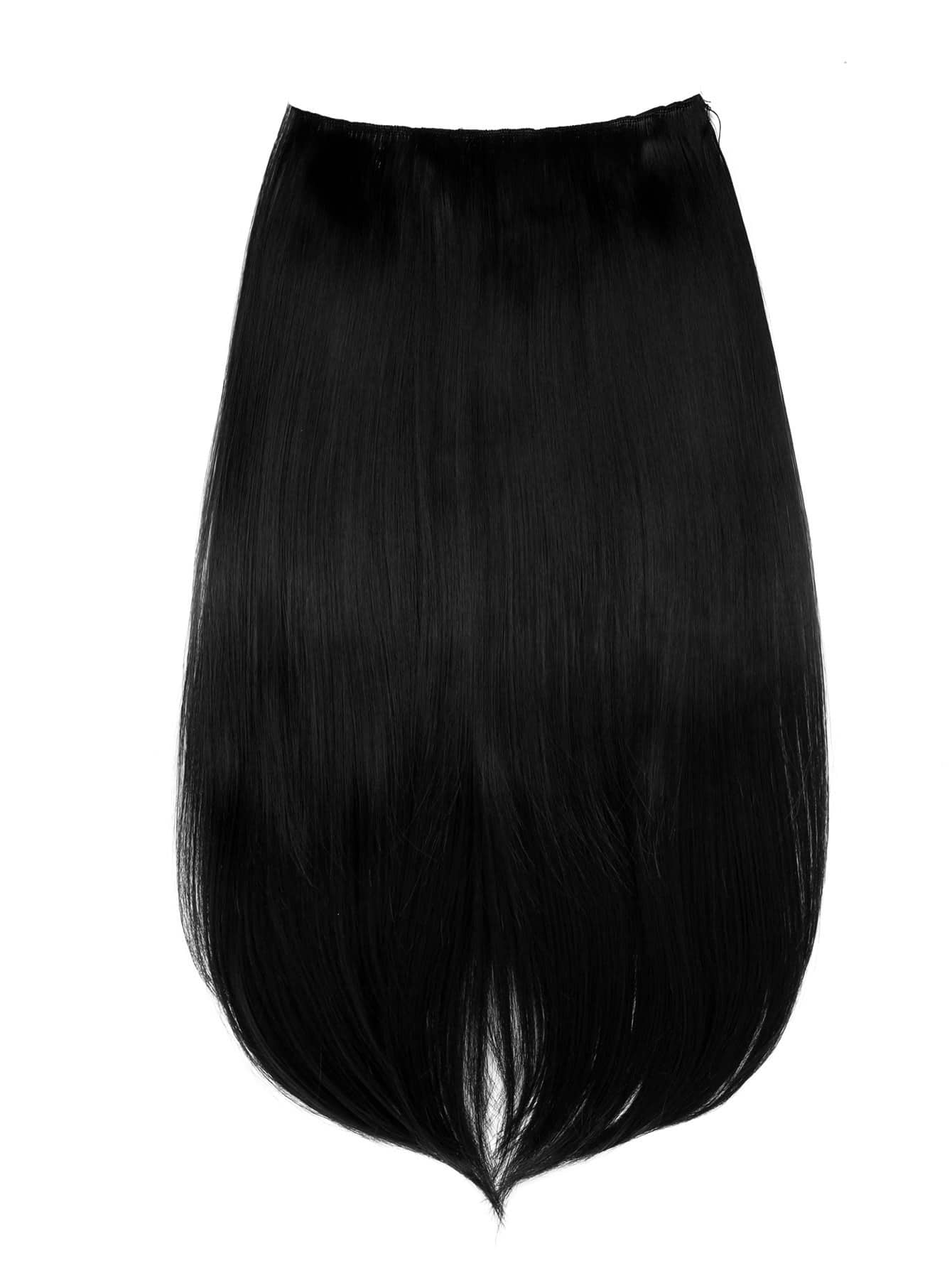 Jet Black Clip In Straight Hair Extension