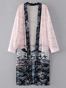 Kimono fendu ouvert avant