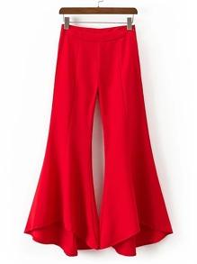 Pantalones brillantes con cremallera lateral