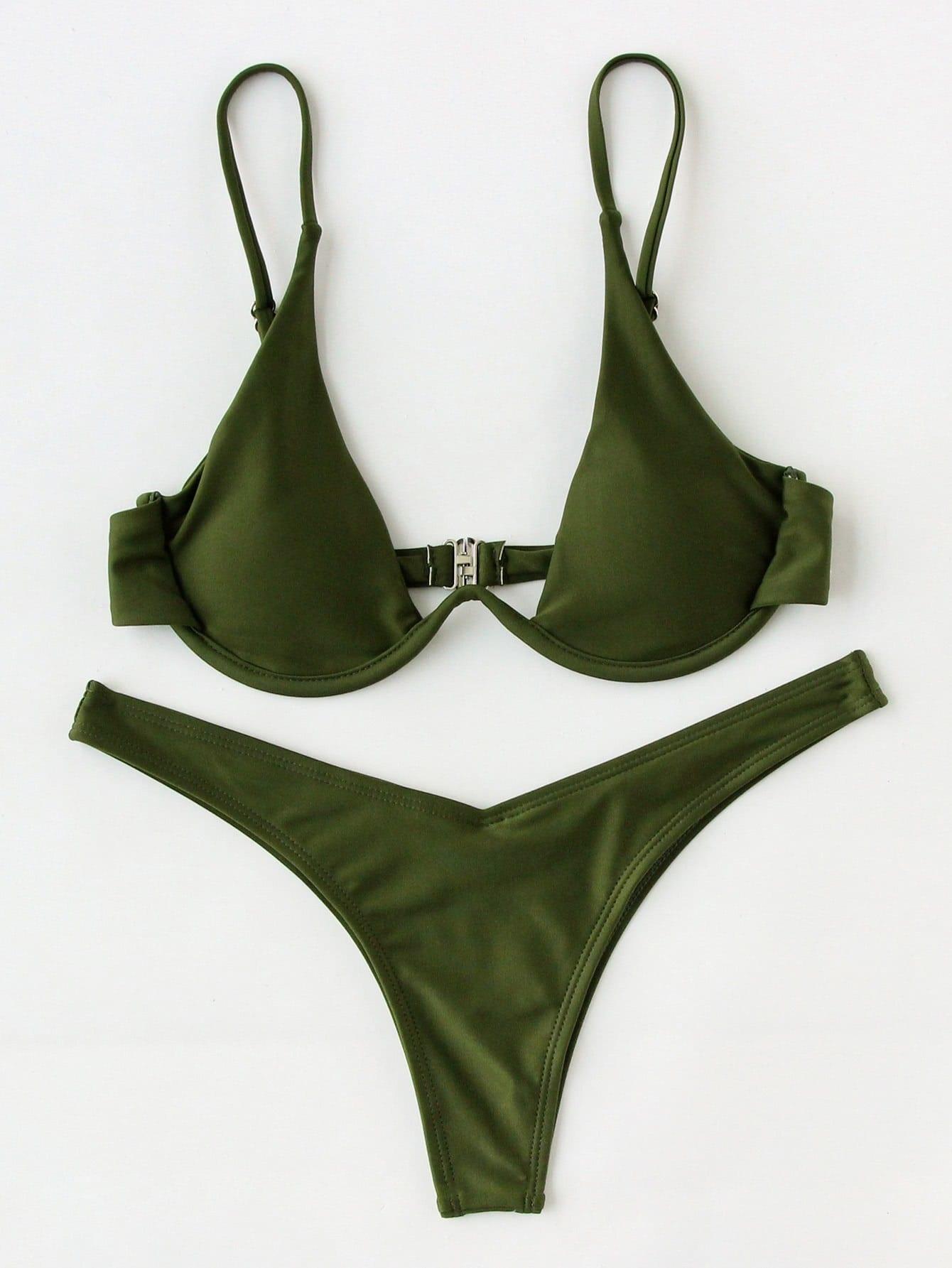 Фото High Leg Underwire Bikini Set. Купить с доставкой