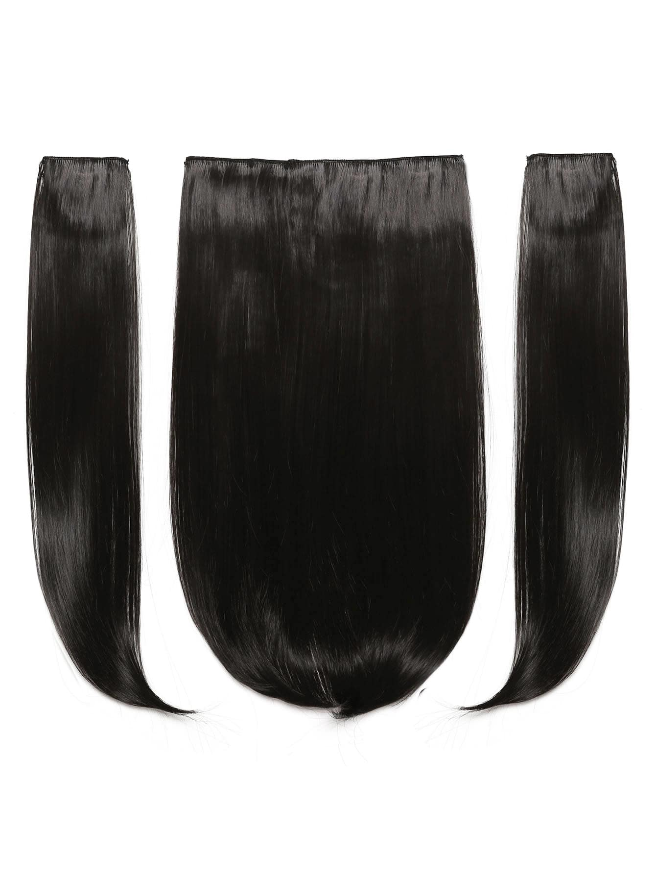 Dark Brown Clip In Straight Hair Extension 3pcs