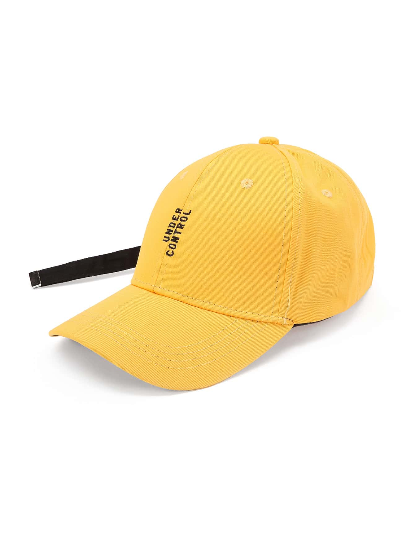 Slogan Embroidery Baseball Cap With Long Strap hat170725303
