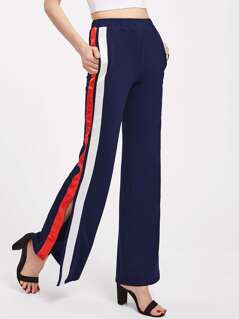 Split Striped Side Pants