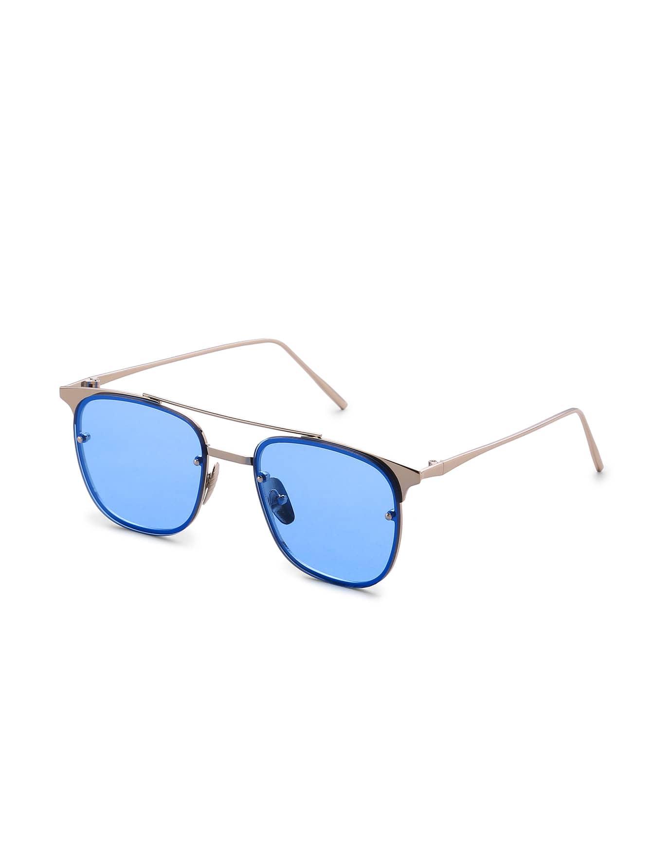Фото Top Bar Metal Frame Sunglasses. Купить с доставкой