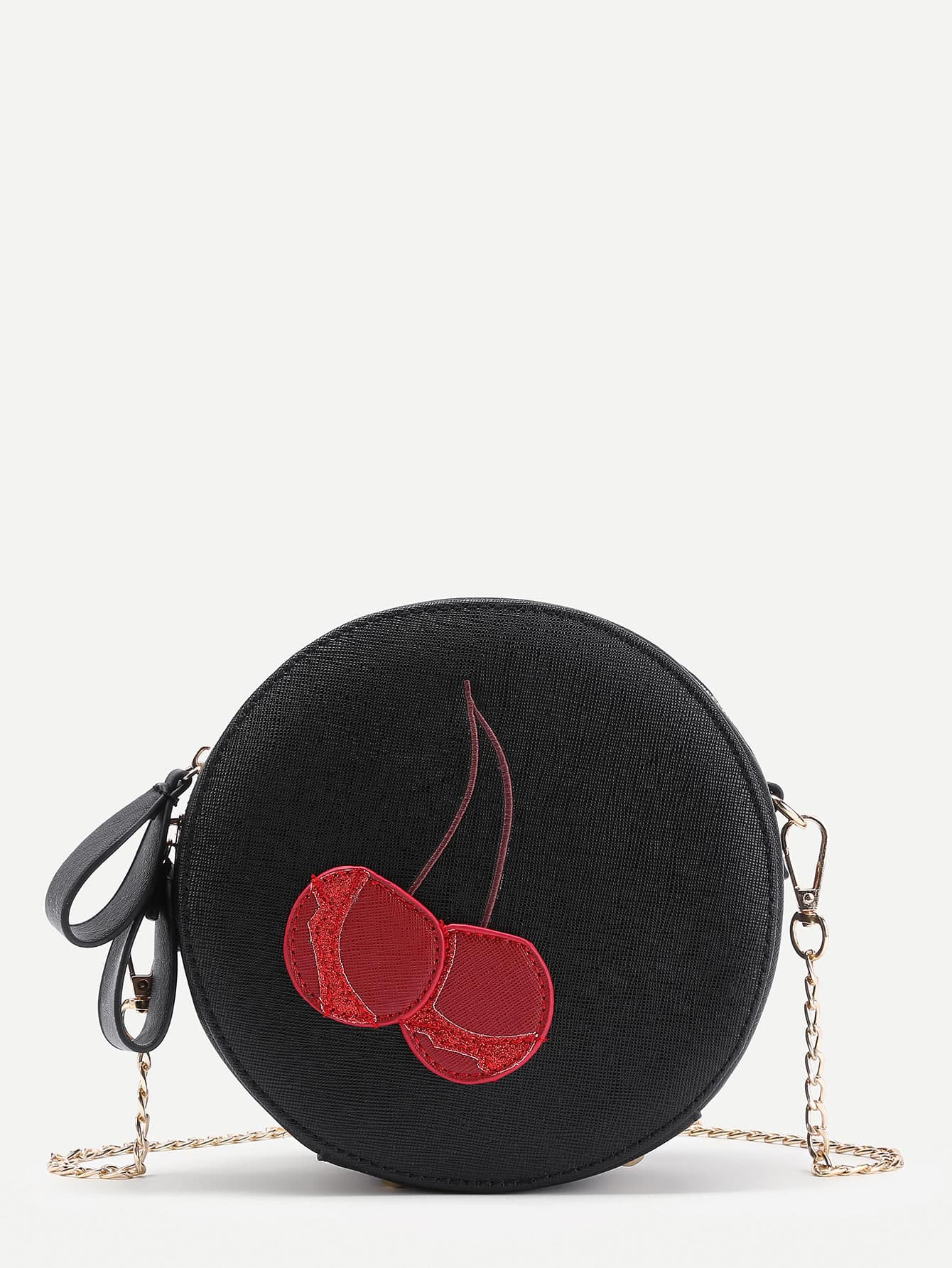 Фото Cherry Pattern Round Shaped PU Bag. Купить с доставкой