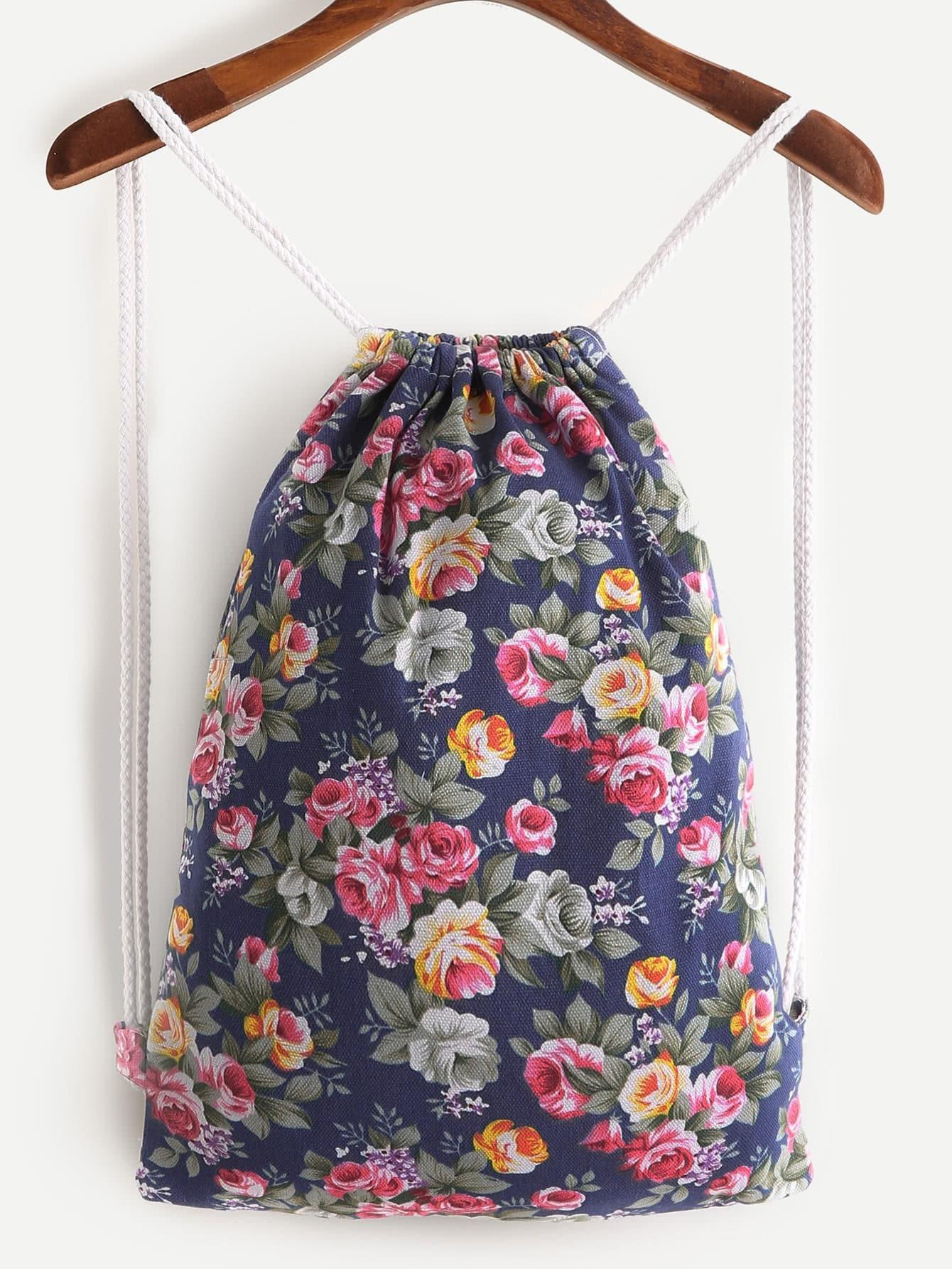 Фото Calico Print Drawstring Backpack. Купить с доставкой