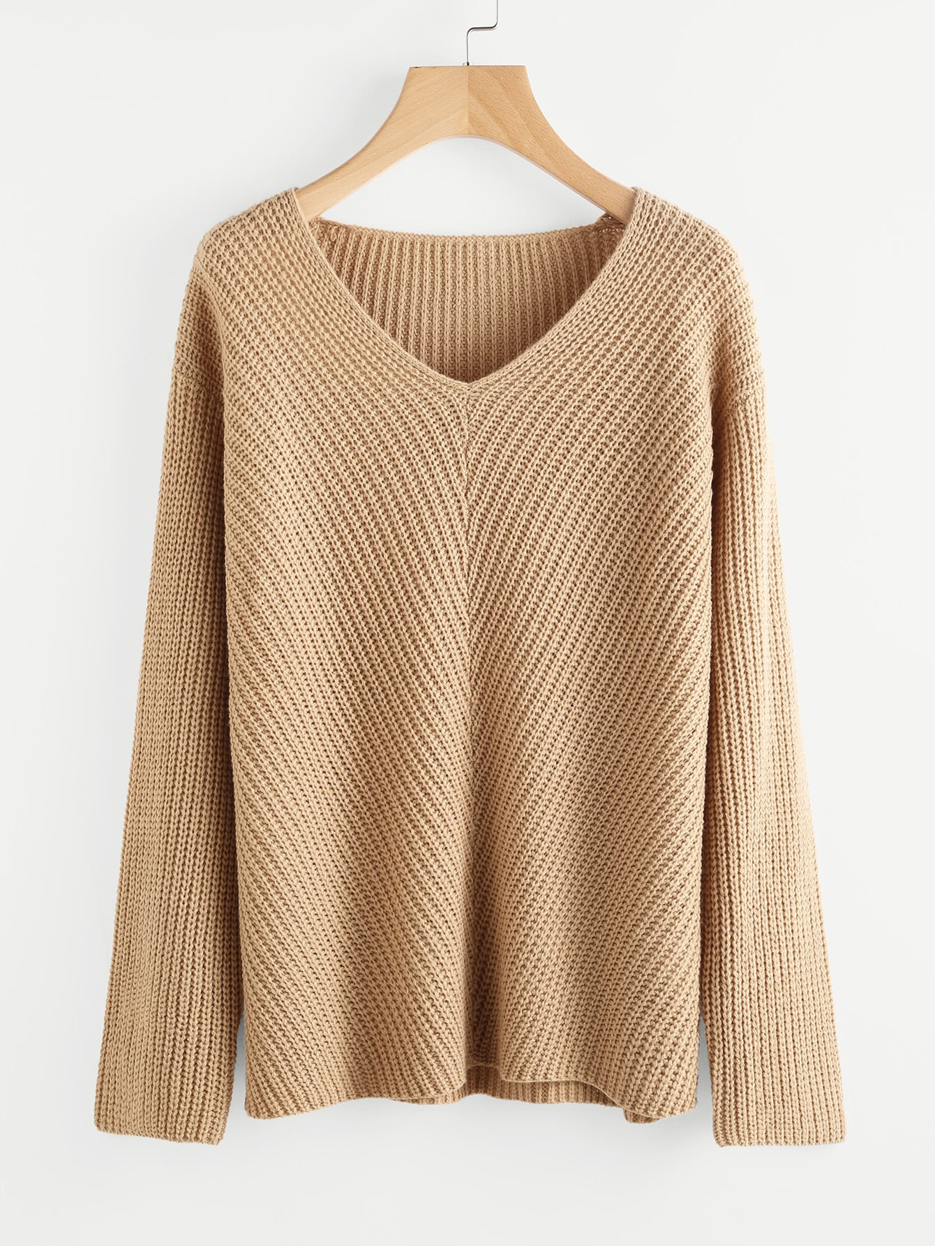 цены Drop Shoulder V Neck Jumper