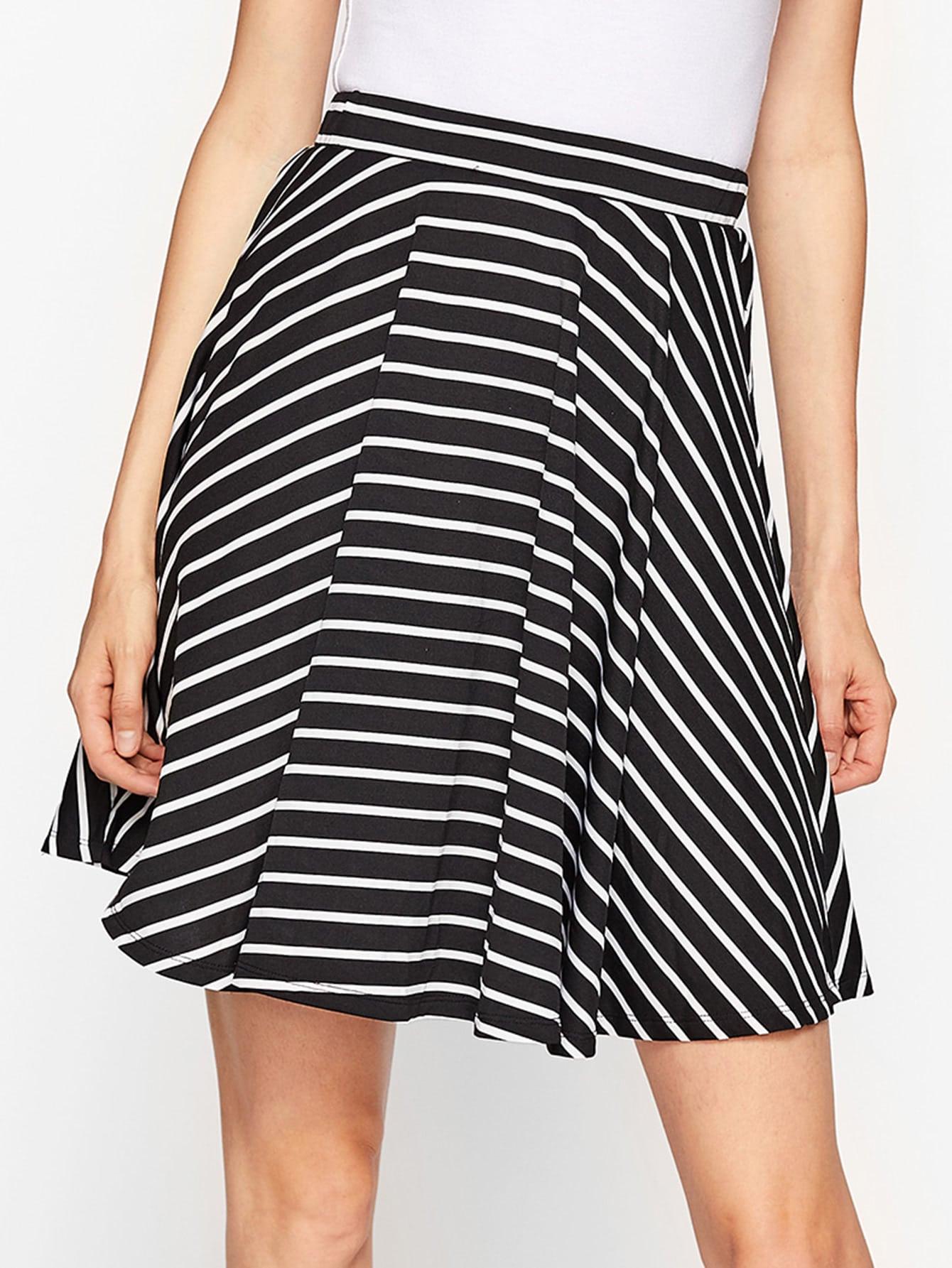 Фото Striped Swing Skirt. Купить с доставкой