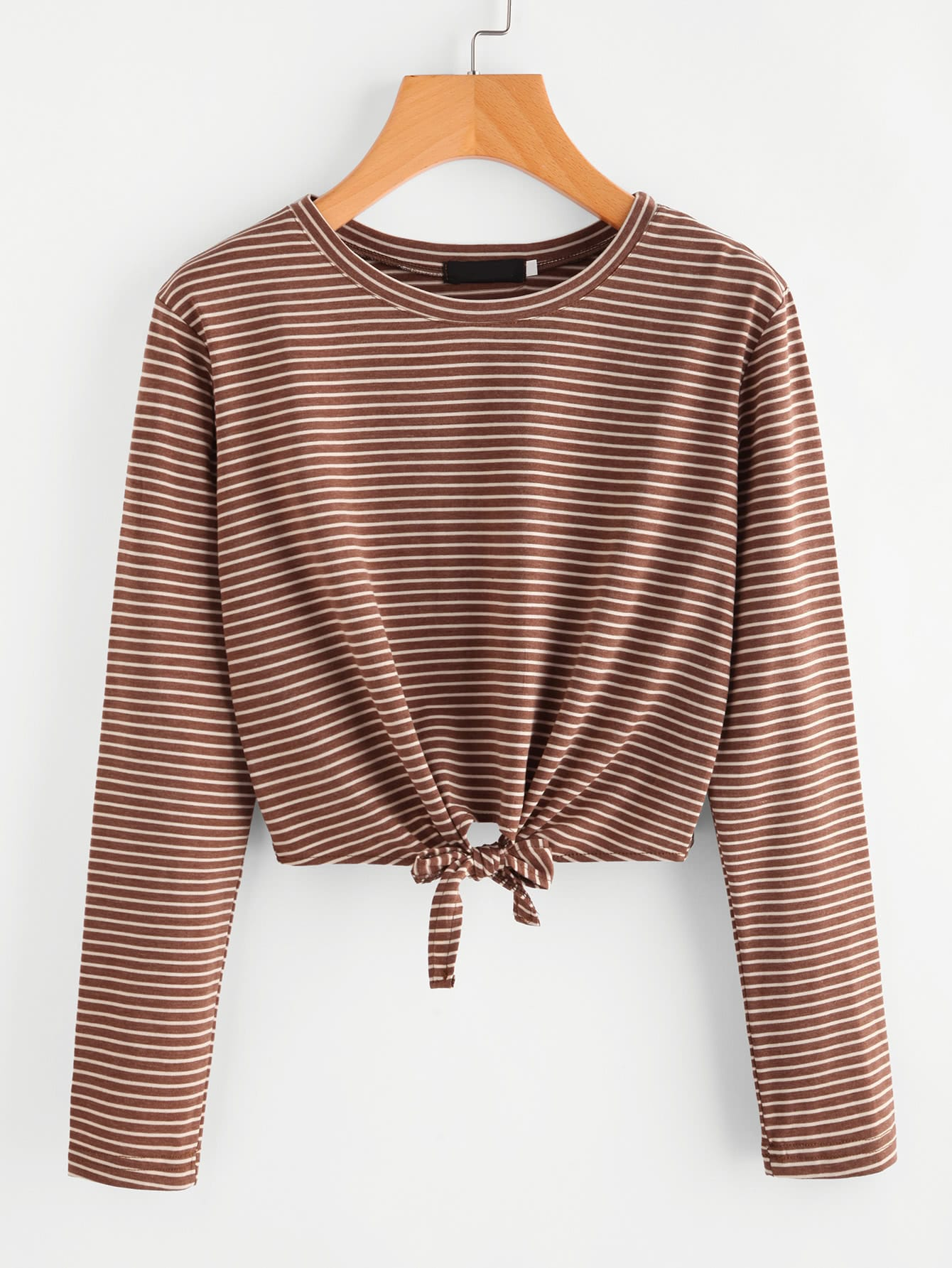 Striped Knot Front Tee knot front tee