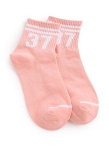 Striped Trim Ankle Socks