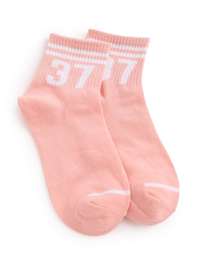 Striped Trim Ankle Socks