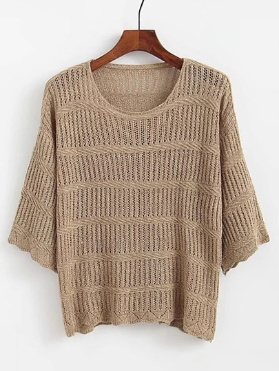 3/4 Sleeve Loose Sweater