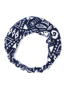 Geometric Print Elastic Hairband