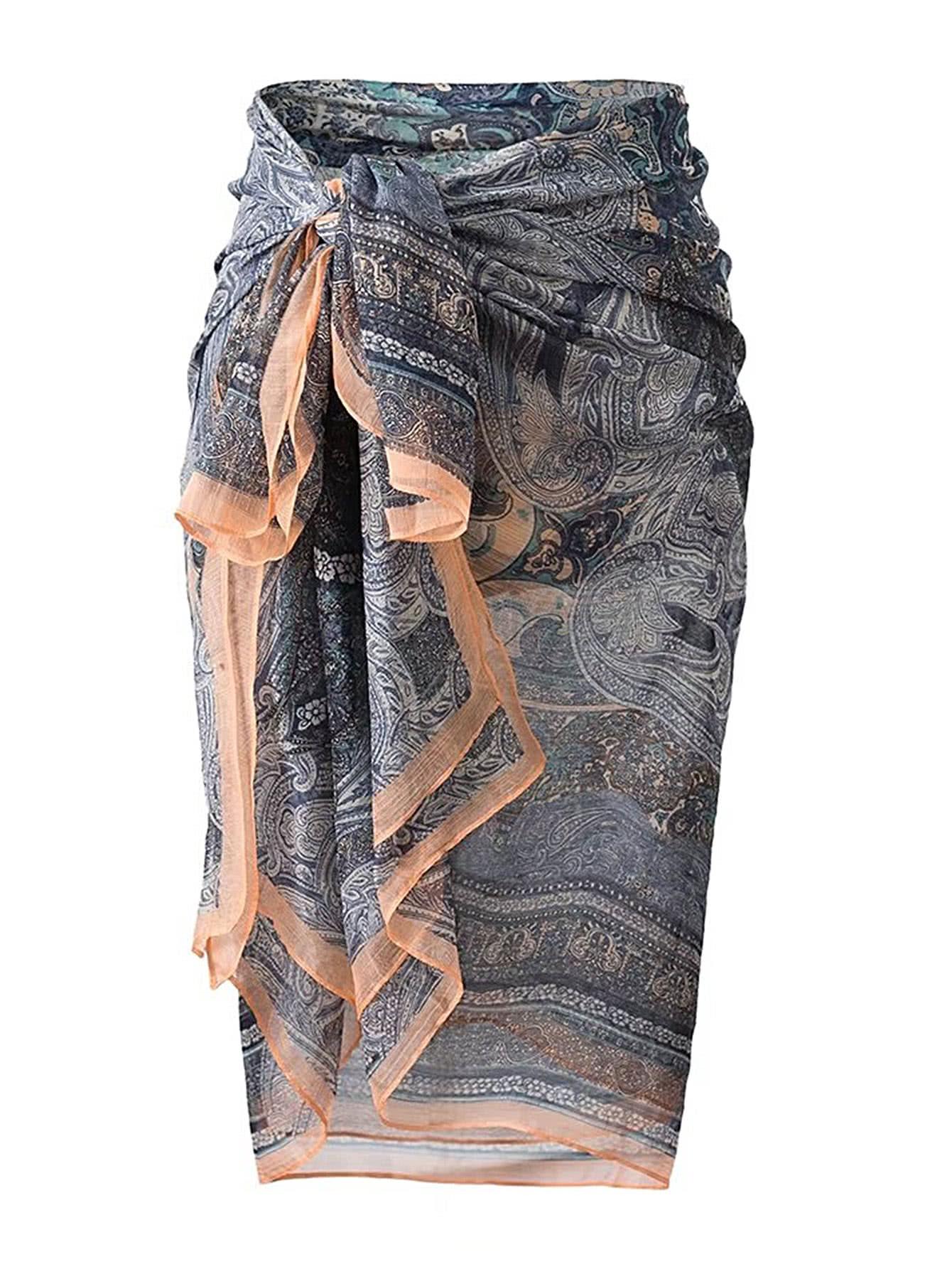 Фото Knot Waist Convertible Boho Skirt. Купить с доставкой