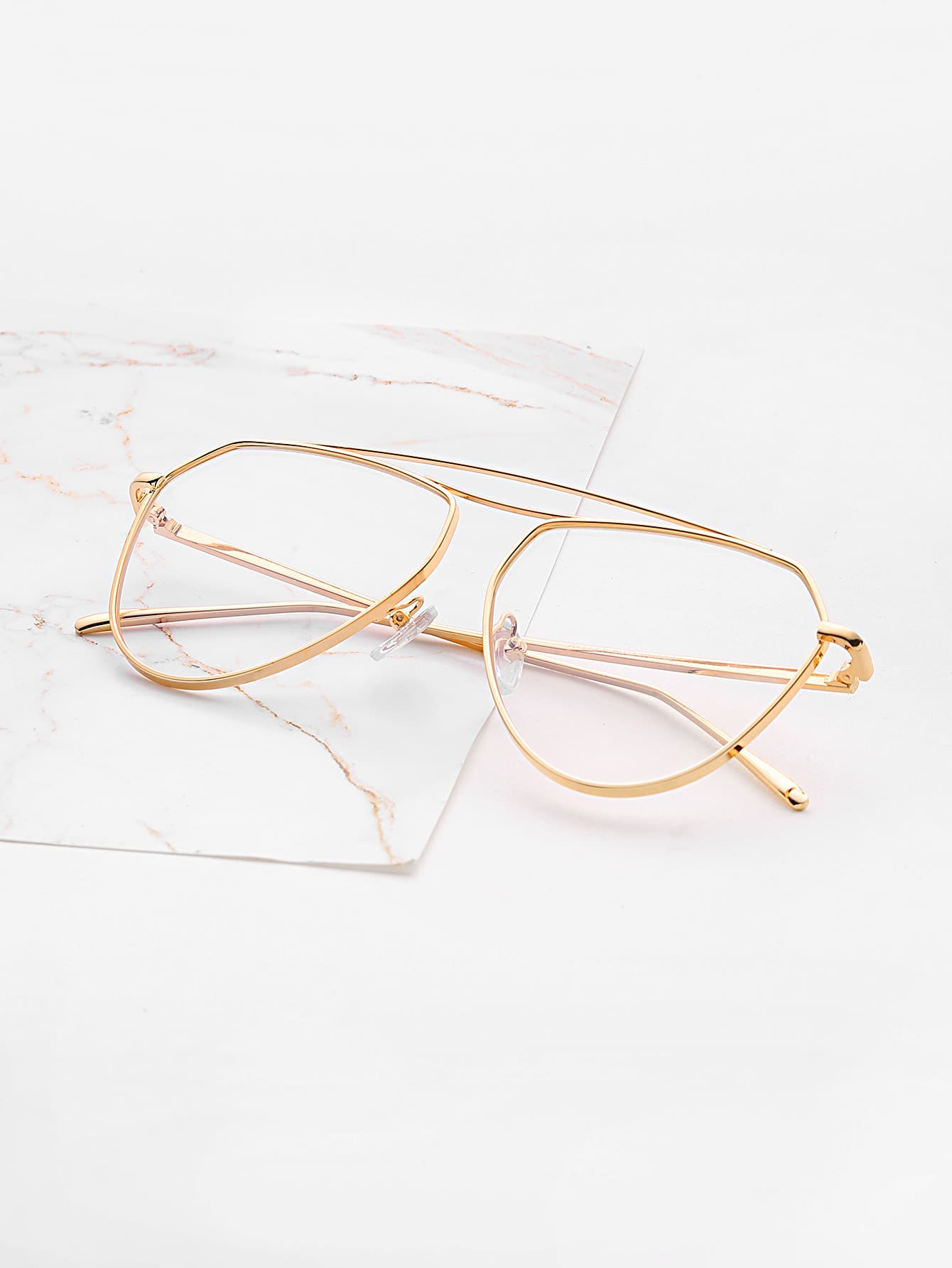Фото Double Top Bar Clear Lens Glasses. Купить с доставкой