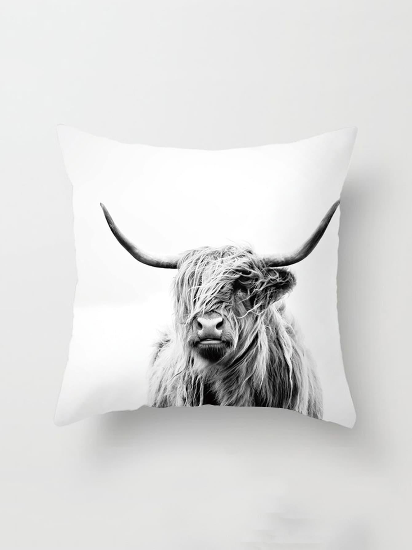 Yak Print Pillowcase Cover