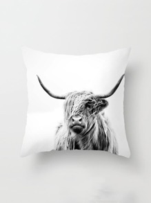 Yak Print Pillowcase Cover