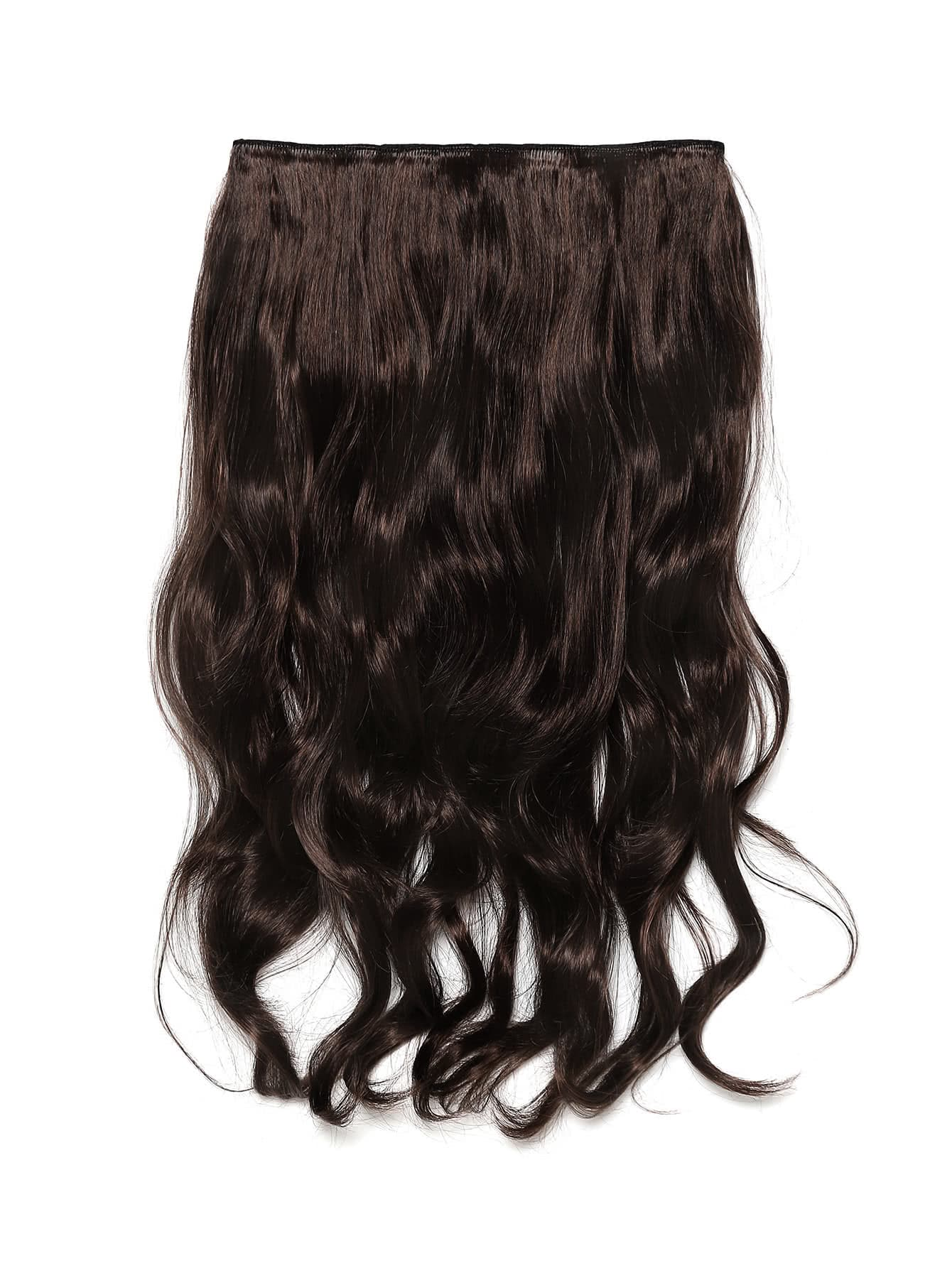 Image of Black Cherry & Caramel Clip In Soft Wave Hair Extension