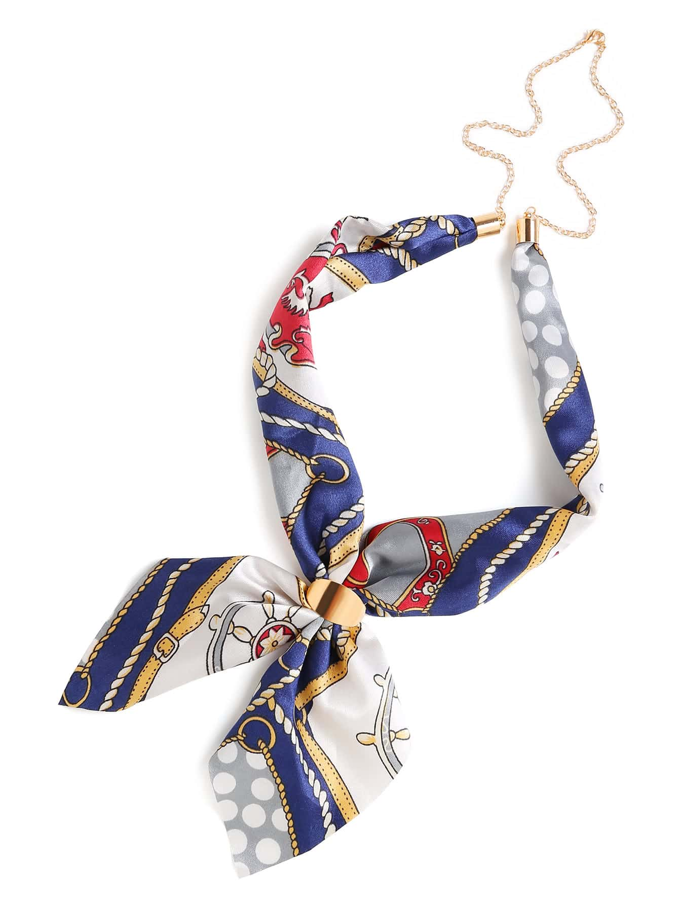 Chain Linked Satin Neckerchief