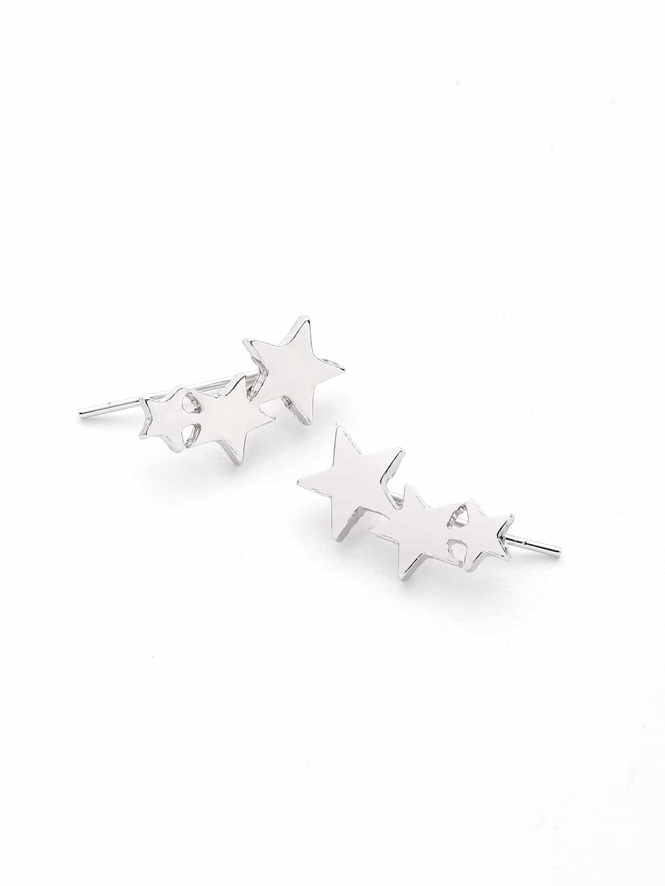 Фото Metal Star Cute Stud Earrings. Купить с доставкой