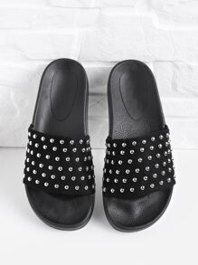 Studded Slip On Sandals
