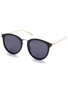 Black Retro Reflective Cat Eye Sunglasses