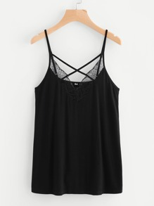 Lace Crisscross Front Cami Top