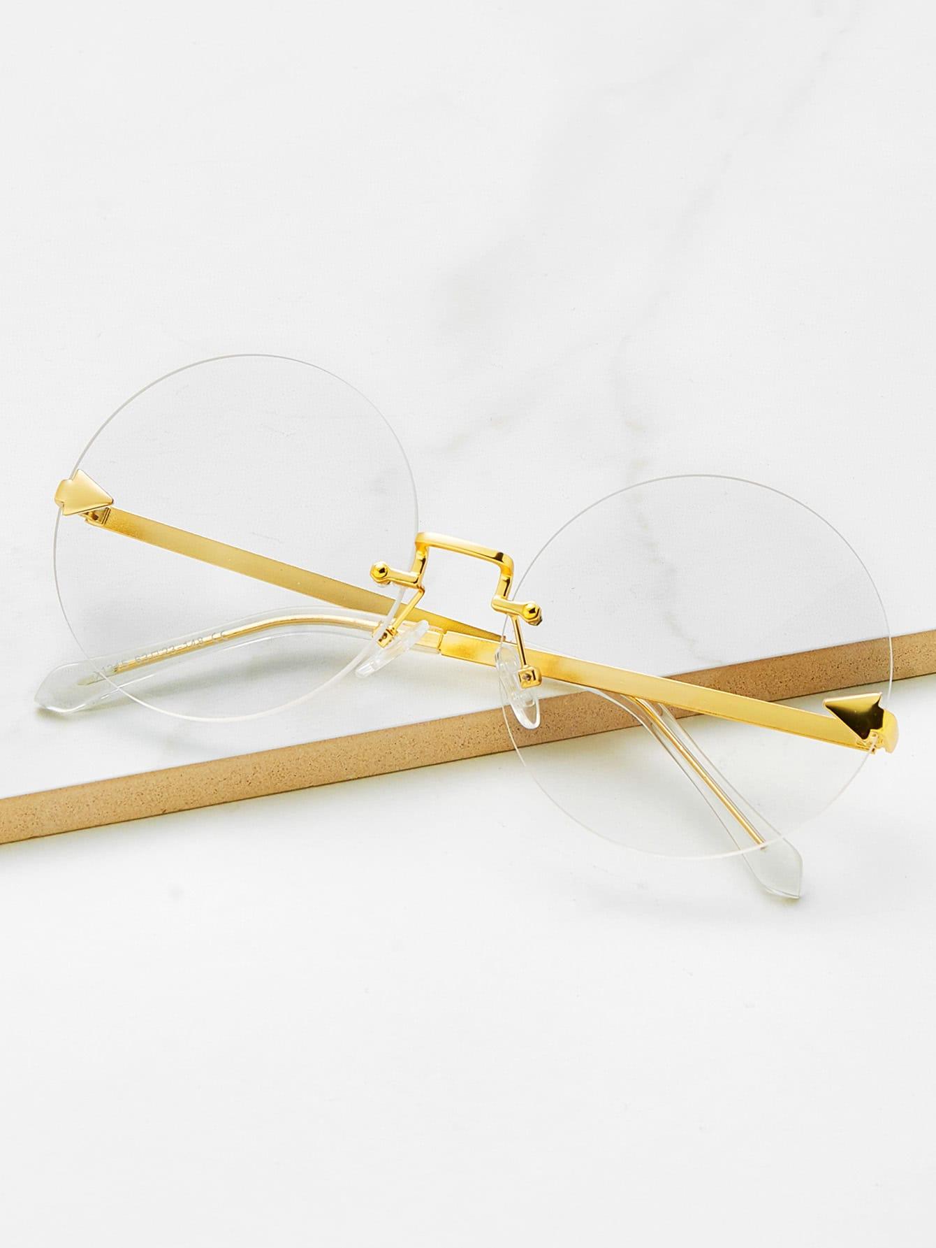 Фото Round Lens Rimless Glasses. Купить с доставкой