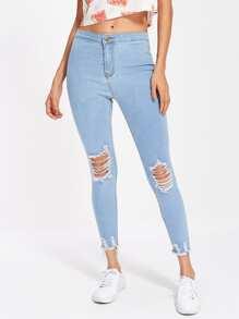 Lichtwäsche Zerrissene Jeans