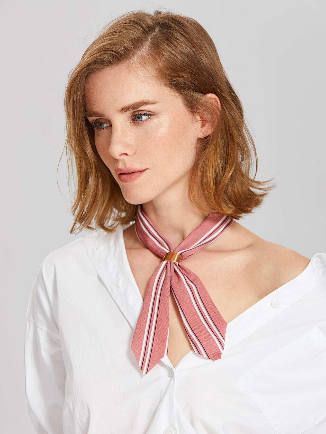 Striped Print Neckerchief