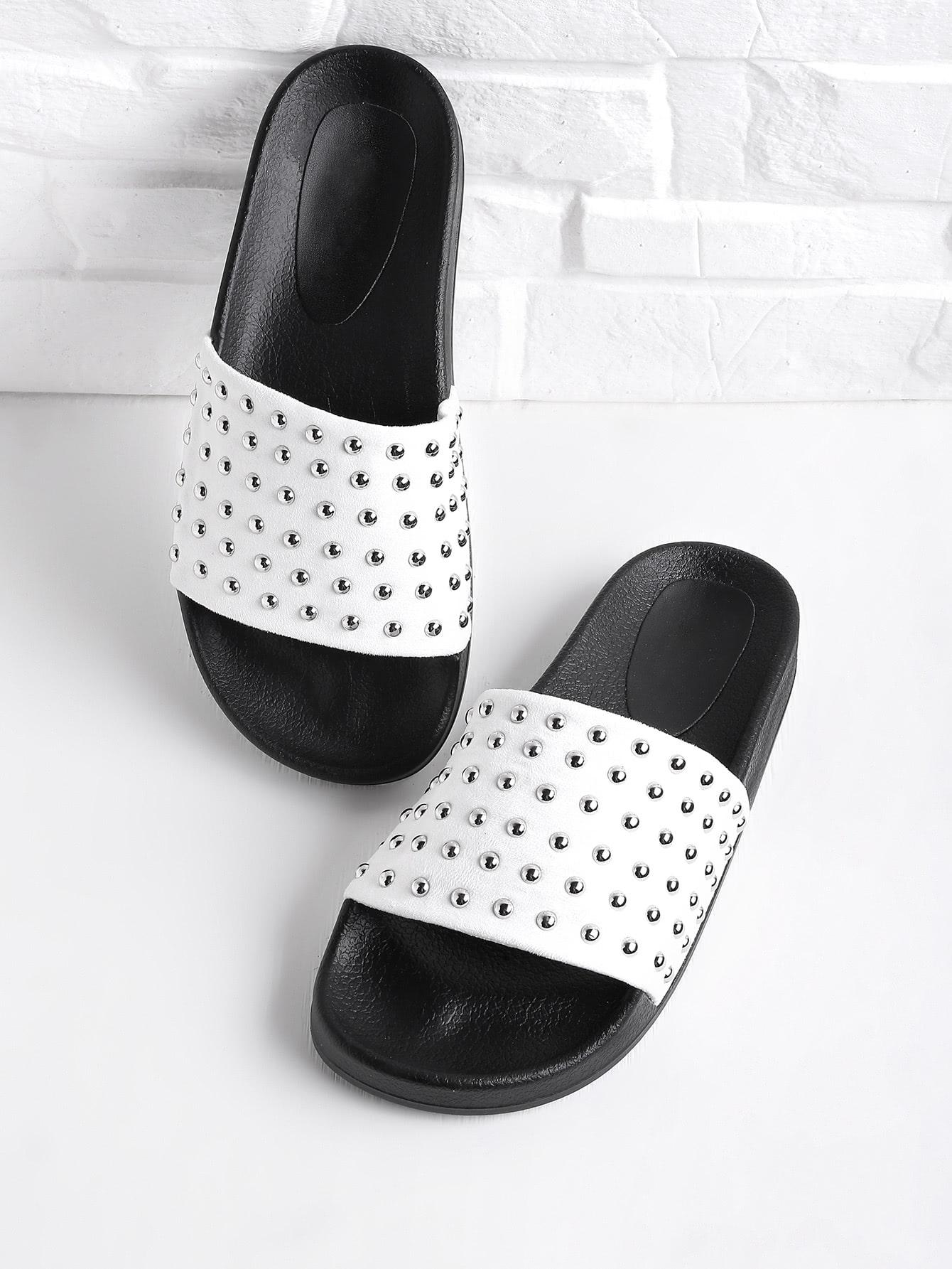 Фото Studded Slip On Sandals. Купить с доставкой