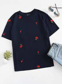 Cherry Embroidered T-shirt