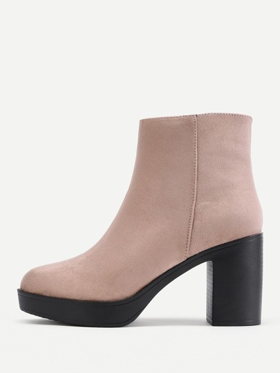 Side Zipper Chelsea Ankle Boots