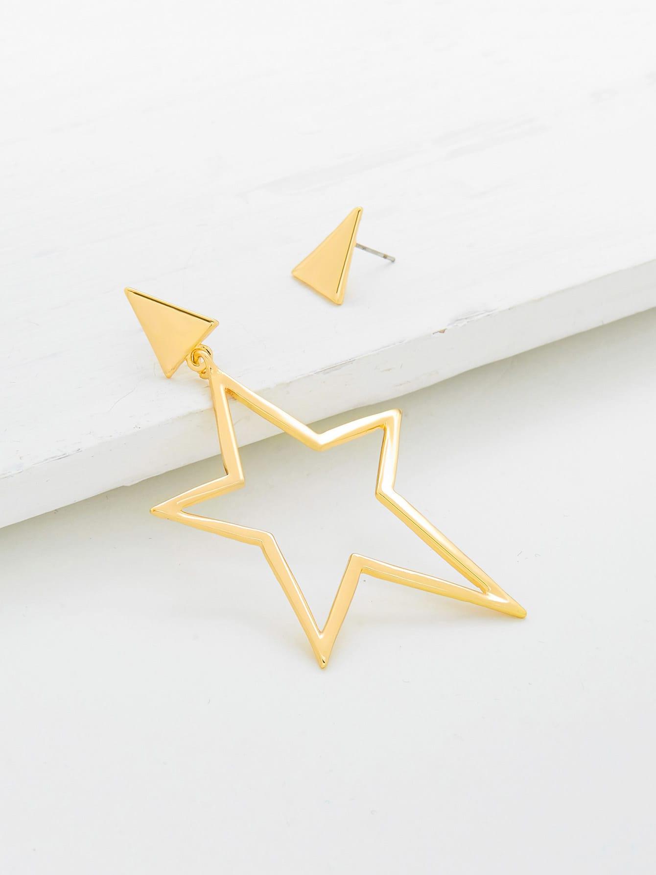 Фото Star & Triangle Mismatch Stud Earrings. Купить с доставкой