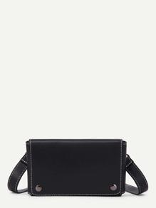 Simple PU Flap Cross Body Bag