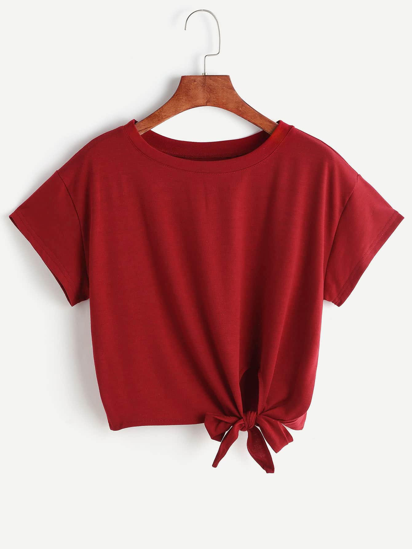 Knot Front Tshirt knot front fit