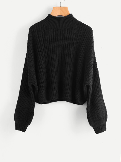 Drop Shoulder Bishop Sleeve Jumper