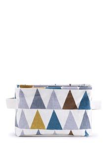 Color Block Triangle Print Desktop Storage Bag