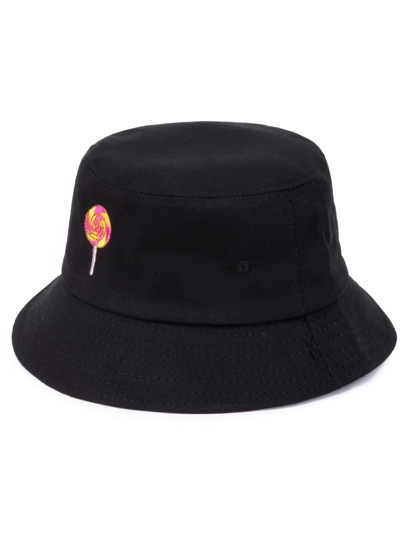 Lollipop Embroidery Bucket Hat