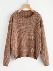 Stepped Hem Fuzzy Jumper