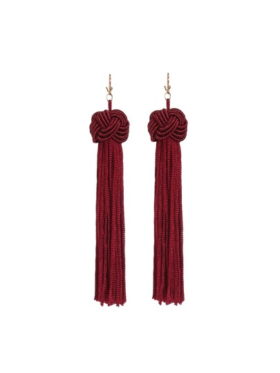 Statement Tassel Long Drop Earrings
